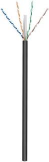 Rola cablu de retea cat.6 UTP exterior CU 100m Negru, Goobay 77625