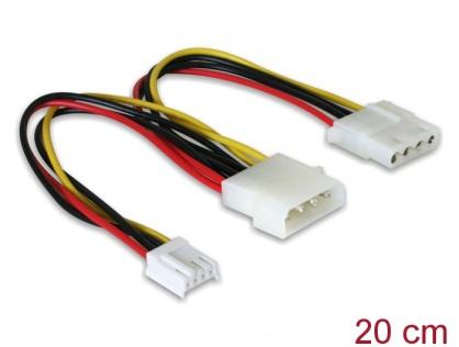 """Cablu alimentare Molex 4 pini la Molex 4 pini M + 3.5"""" FDD, Delock 82111"""