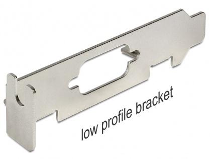 Slot Bracket low profile pentru SUB-D 9, Delock 82713
