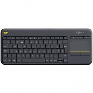 Tastatura wireless cu Touchpad K400 Plus Negru, Logitech