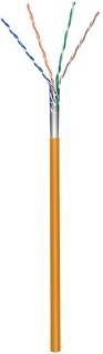 Rola cablu de retea cat.5e F/UTP CCA Portocaliu 100m, Goobay 93268