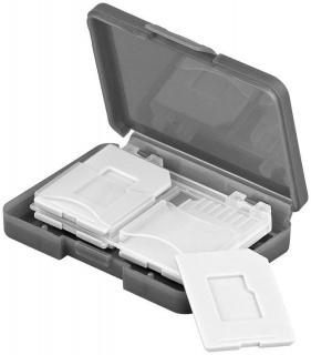 Cutie pentru depozitare carduri de memorie 4x SD/Micro SD/MMC, Goobay 95349