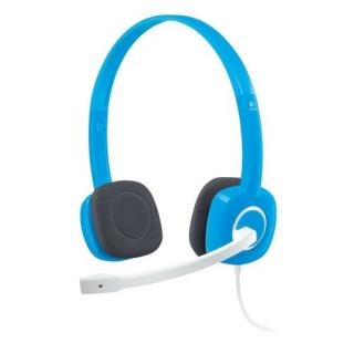 Casti Logitech H150 cu microfon, Sky Blue 981-000368