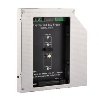 "Installation Frame (Caddy) Slim SATA 5.25"" 12.7mm  pentru M.2 NGFF, Gembird A-SATA12M2-01"