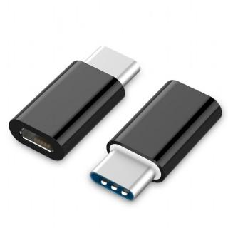 Adaptor micro USB-B 2.0 la USB-C M-T Negru, Gembird A-USB2-CMmF-01