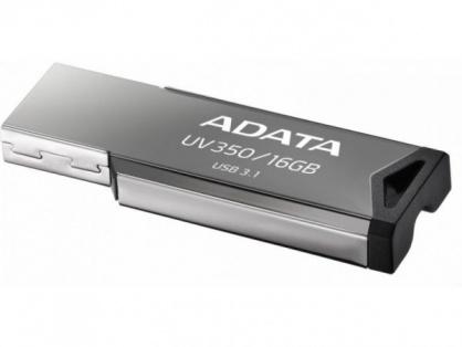 Stick USB 3.1 Gen 1 16GB Gri, A-DATA AUV350-16G-RBK