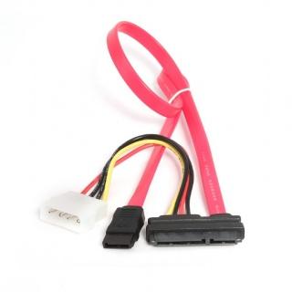 Cablu SATA 22 pini la 7 pini + alimentare Molex, Gembird CC-SATA-C1