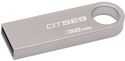 Stick USB 2.0 DataTraveler SE9 32GB Capless Argintiu, Kingston