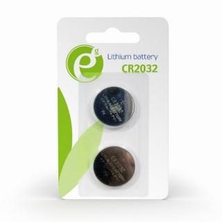 Blister 2 buc baterie CR2032, Gembird EG-BA-CR2032-01