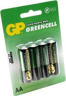 Blister 4 baterii AA LR6 Zinc-Carbonr, GP BATTERIES