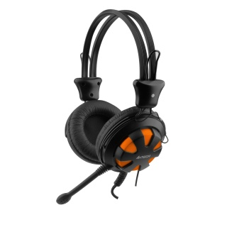 Casti stereo cu microfon Orange/Black jack 3.5mm, A4Tech Comfortfit HS-28-3