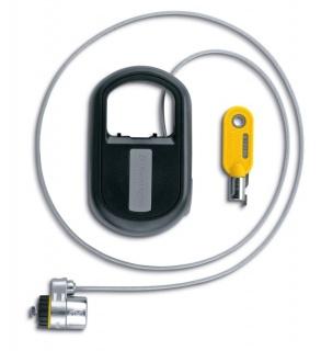 Cablu antifurt notebook Kensington MicroSaver, otel, retractabil, 1.2m avertizare furt, doua chei, K64538EU