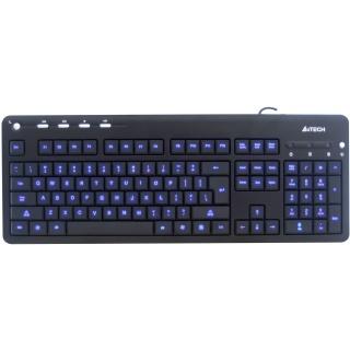 Tastatura multimedia iluminata USB Negru, A4TECH KD-126-1