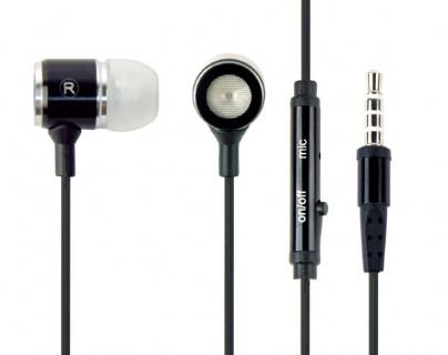 Casti stereo cu microfon metal Negru, Gembird MHS-EP-001