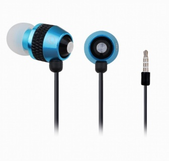 Casti stereo cu microfon metal Blue, Gembird MHS-EP-002