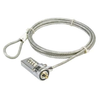 Cablu antifurt laptop cu cifru, metal, Logilink NBS002