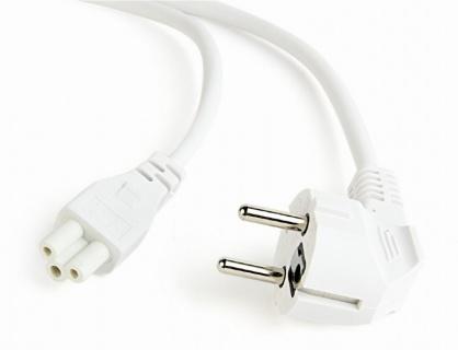 Cablu de alimentare Schuko la C5 Mickey Mouse 1.8m Alb, Gembird PC-186-ML12-W