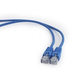 Cablu retea UTP Cat.5e 1m albastru, Gembird PP12-1M/B