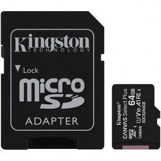 Card de memorie micro SDXC 64GB clasa 10 Canvas Select Plus, Kingston SDCS2/64GB