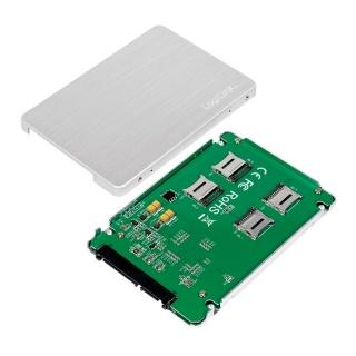 """Rack extern 2.5"""" pentru 4 x micro SD, Logilink AD0022"""