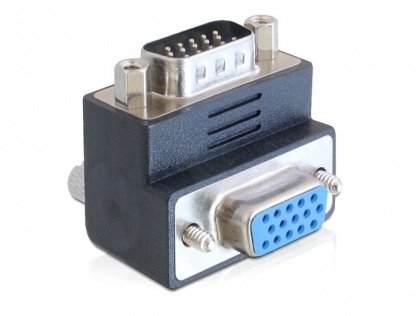 Adaptor VGA 15T-15M 90 grade, Delock 65289