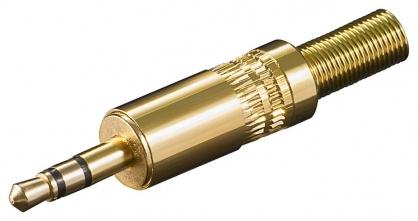 Conector aurit pentru lipit Stereo jack 3.5 mm 3 pini, cjack3mg