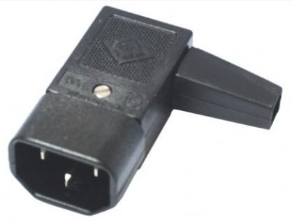 Conector de alimentare 230V/F IEC C14 unghi tata