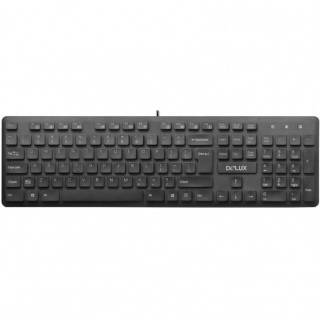 Tastatura multimedia USB Negru, Delux KA150U