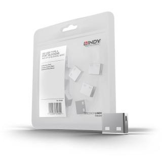USB Port Blocker 10 bucati albe, Lindy L40464