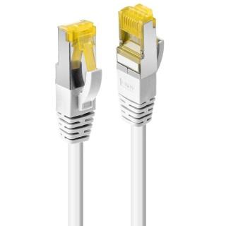Cablu de retea S/FTP cat 7 LSOH cu mufe RJ45 Alb 1m, Lindy L47322