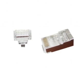 Set 100 buc conector RJ45 cat 5e FTP, Gembird LC-PTF-01/100