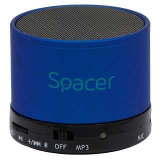 Boxa portabila bluetooth TOPPER 3W Blue, Spacer SPB-TOPPER-BLU