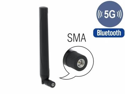 Antena 5G LTE SMA plug -0.5 - 2.3 dBi omnidirectional, Delock 12633