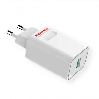 Incarcator priza 1 x USB Quick Charge 3.0 18W, Roline 19.11.1019