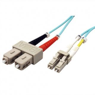 Cablu fibra optica LC-SC OM3 duplex multimode 1m, Roline 21.15.8711