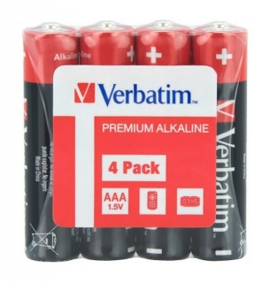 Set 4 baterii AAA (R3), Verbatim 49500
