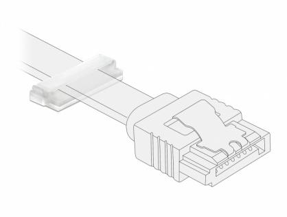 Set 10 bucati suport cu adeziv pentru cablu flat/plat, Delock 60181