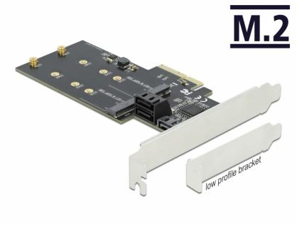 PCI Express cu 3 x SATA III + 2 x M.2 Key B, Delock 90499