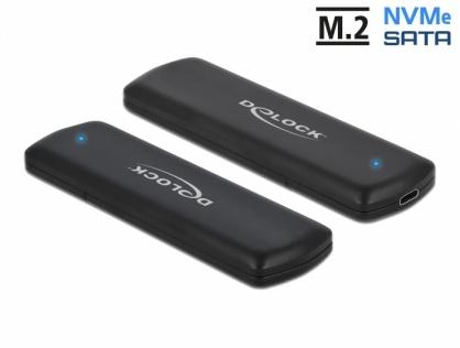 Rack extern USB type C pentru SSD M.2 PCIe/NVME + SATA, Delock 42633