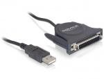 Cablu USB la paralel DB25 pini 1.6m, Delock 61509