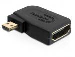 Adaptor HDMI la micro HDMI D T-M v1.4 in unghi, Delock 65352