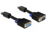 Cablu prelungitor SVGA 15T-15M, ecranat 3m, Delock 82565