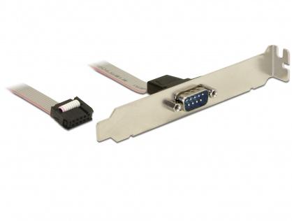 Bracket serial DB9 1 port 1:1 40cm, Delock 82768