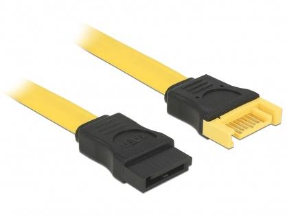 Cablu prelungitor SATA III 6 Gb/s date T-M 30cm, Delock 82855