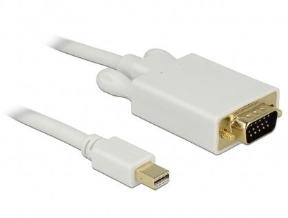 Cablu mini DisplayPort la VGA T-T alb 3m, Delock 82922