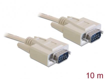 Cablu serial RS-232 DB9 T - T 10m, Delock 82983