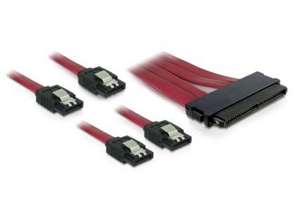 Cablu SAS SFF-8484 la 4 x SATA 7 pini 50cm, Delock 83044