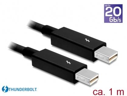 Cablu Thunderbolt 2 T-T 1m Negru, Delock 83149