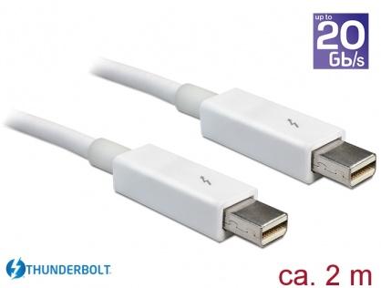 Cablu Thunderbolt 2 T-T 2m alb, Delock 83167