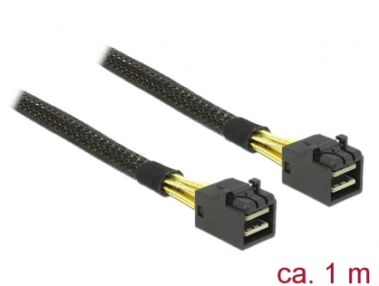 Cablu Mini SAS HD SFF-8643 la Mini SAS HD SFF-8643 1m, Delock 83387